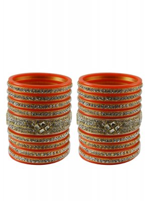 Orange Color Bangles