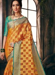 Orange Color Classic Designer Saree