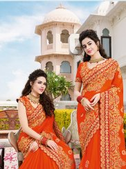 Orange Color Classic Saree