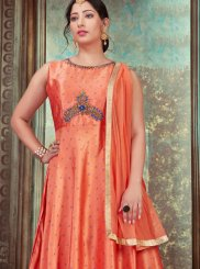 Orange Color Designer Gown