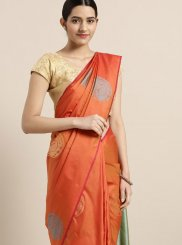 Orange Color Designer Traditional Saree