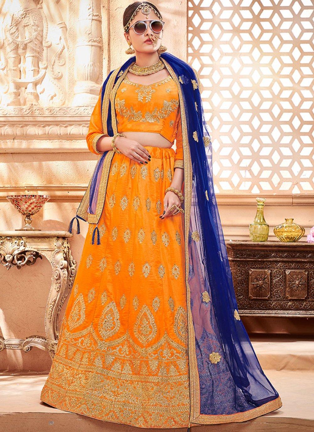 Orange Color Lehenga Choli