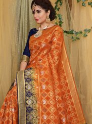 Orange Color Traditional Designer Saree