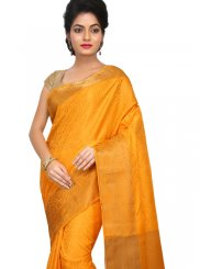 Orange Festival Art Silk Designer Traditional Saree