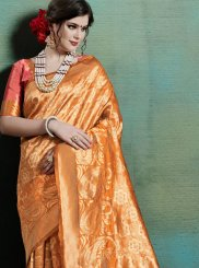 Orange Festival Art Silk Traditional Saree