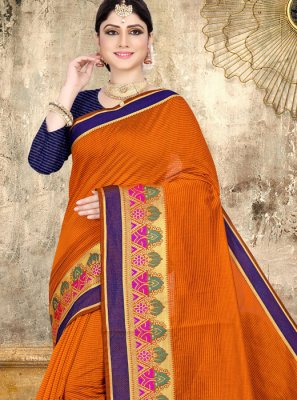 Orange Festival Classic Saree