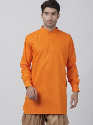 Orange Festival Dhoti Kurta