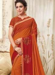 Orange Party Classic Designer Saree