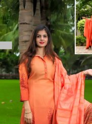 Orange Party Designer Palazzo Suit