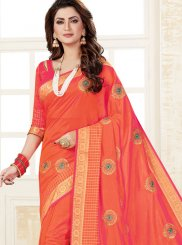 Orange Party Silk Saree