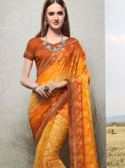 Orange Trendy Saree