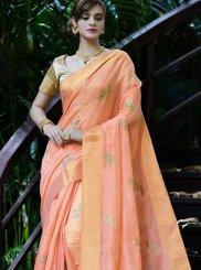 Orange Zari Festival Classic Saree
