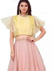 Organza Embroidered Readymade Lehenga Choli in Pink