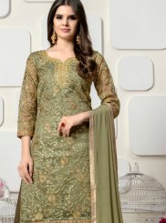 Organza Resham Designer Palazzo Salwar Suit