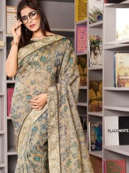Organza Traditional Designer Saree in Green