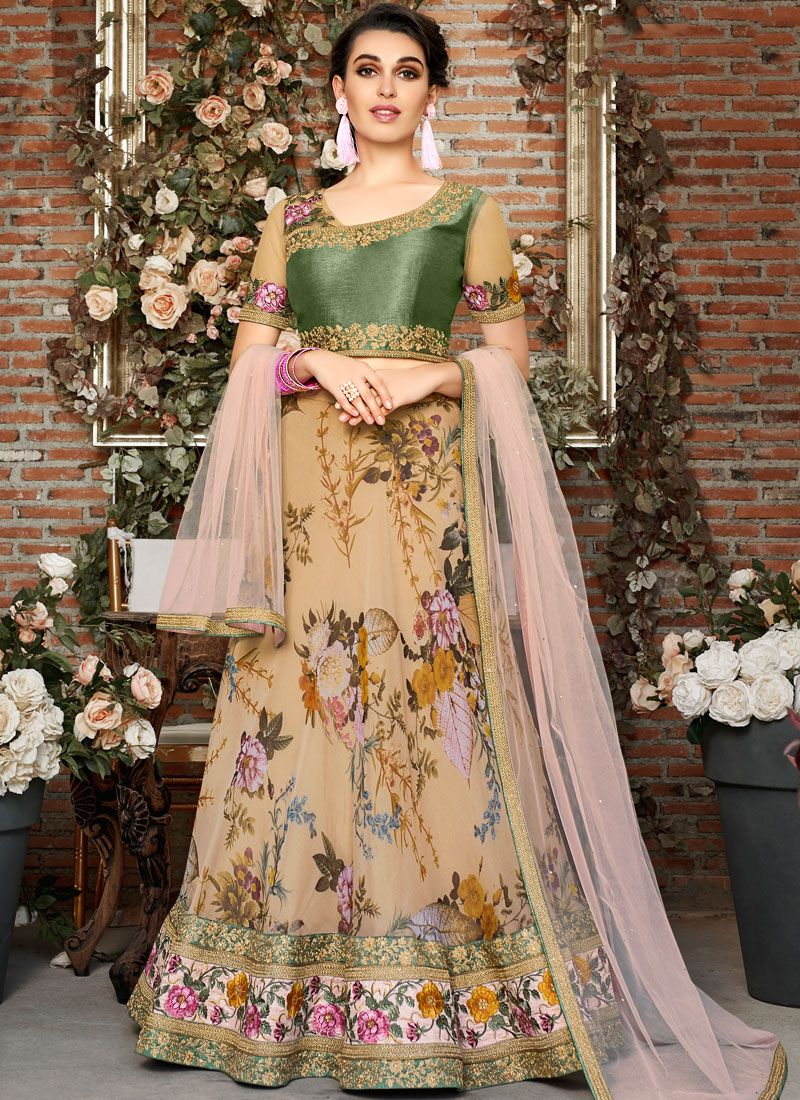 Organza Wedding Lehenga Choli