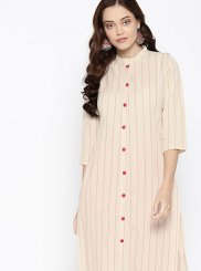 Party Wear Kurti Fancy Cotton in Pink