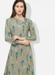 Party Wear Kurti Printed Rayon in Multi Colour