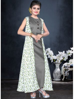 Partywear Gown With Handwork For KIds