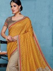 Patch Border Art Silk Designer Traditional Saree