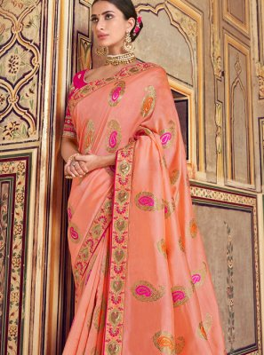Patch Border Art Silk Traditional Designer Saree