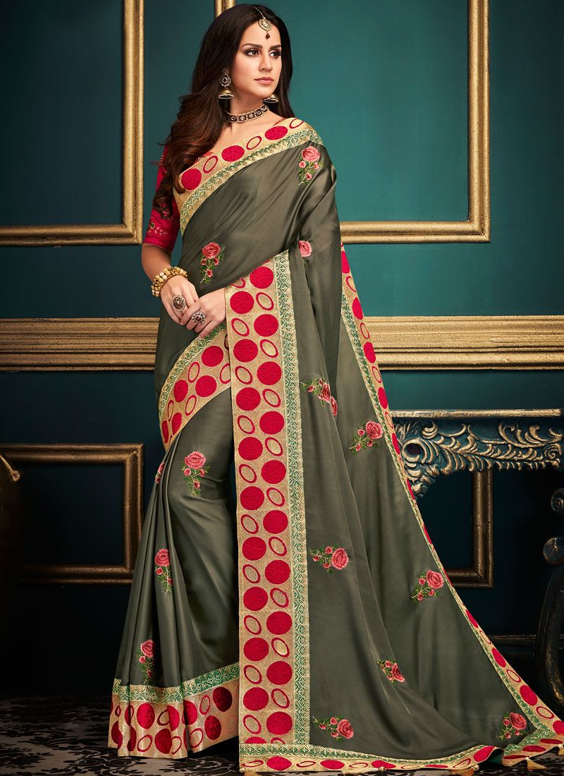 Patch Border Art Silk Traditional Saree