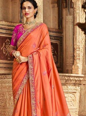 Patch Border Banarasi Silk Classic Designer Saree