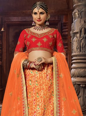 Patch Border Banarasi Silk Designer Lehenga Choli