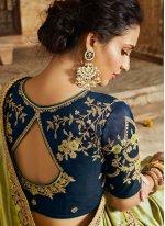 Patch Border Banarasi Silk Traditional Saree