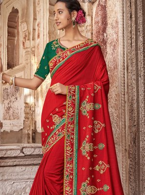 Patch Border Bridal Traditional Saree