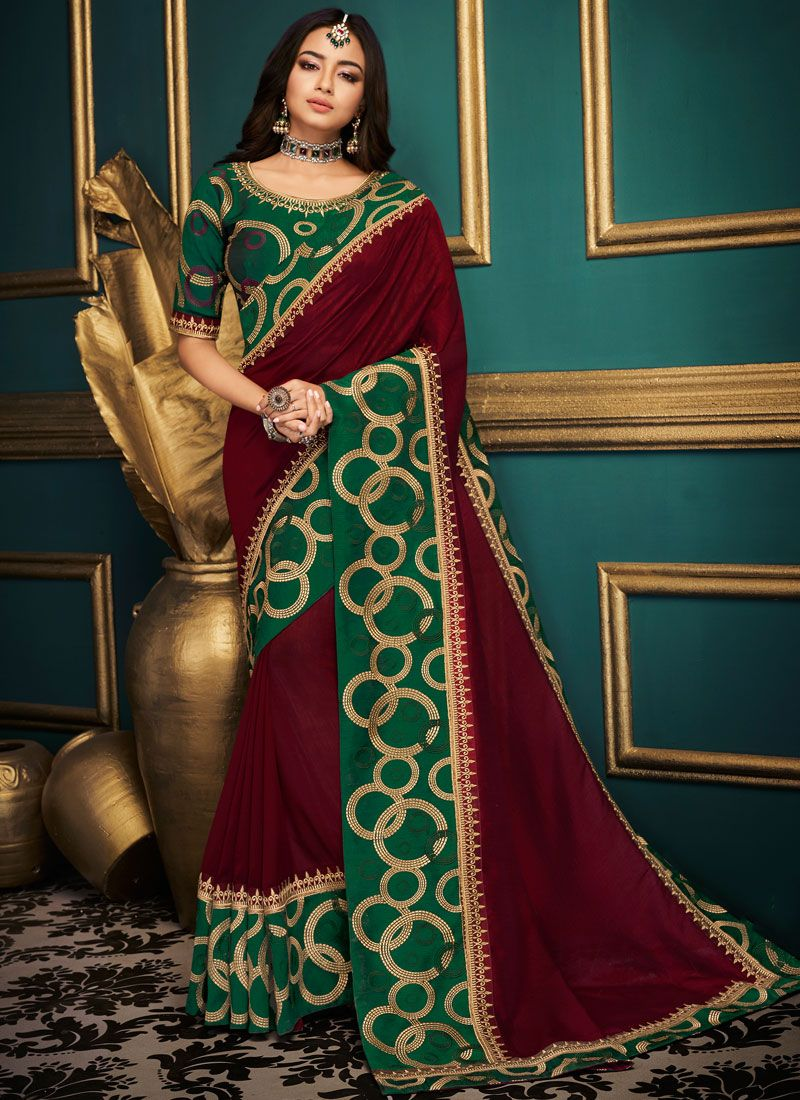 Patch Border Designer Traditional Saree