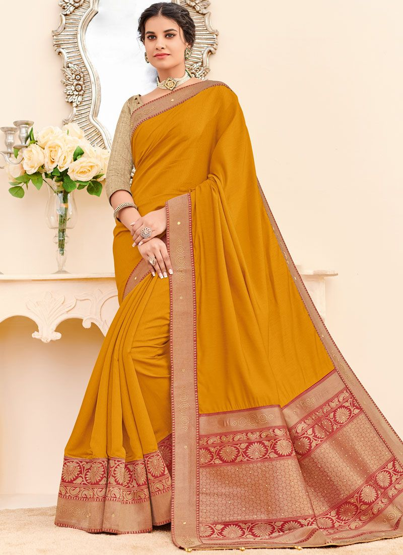 Patch Border Fancy Fabric Traditional Saree