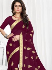 Patch Border Faux Georgette Traditional Saree