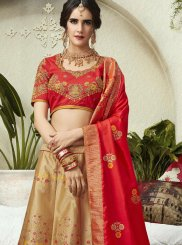 Patch Border Jacquard Silk Lehenga Choli