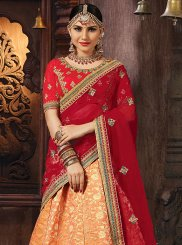 Patch Border Mehndi Designer Lehenga Choli