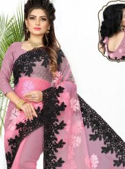 Patch Border Net Classic Designer Saree