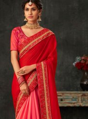 Patch Border Wedding Designer Half N Half Saree