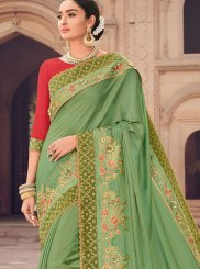Patch Border Wedding Designer Traditional Saree