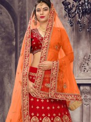 Patch Border Wedding Lehenga Choli