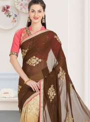 Patch Border Work Shaded Saree