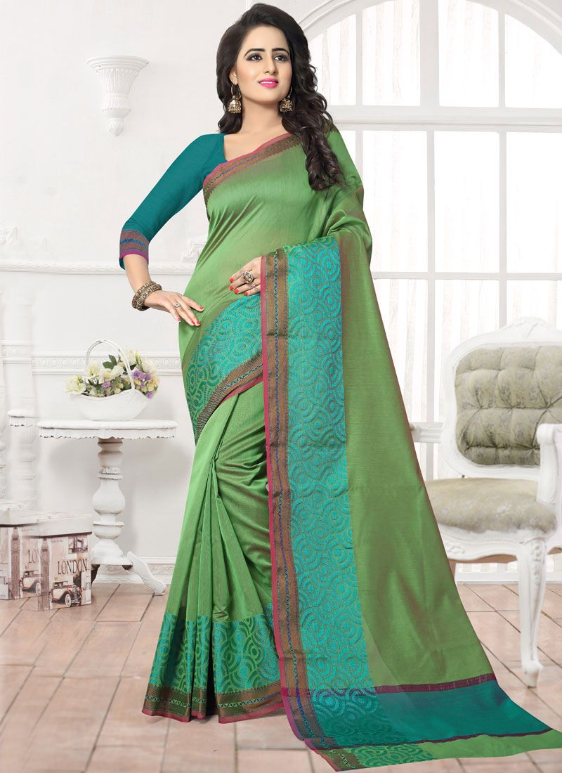 Patch Work Work Banarasi Silk Silk Saree