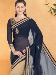 Patch Work Work Casual Saree