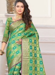 Patola Silk  Classic Designer Saree in Green