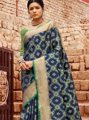 Patola Silk  Designer Saree in Blue