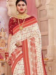 Patola Silk  Off White Weaving Traditional Saree