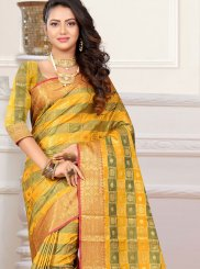 Patola Silk  Yellow Classic Designer Saree