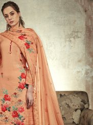 Peach Abstract Print Designer Palazzo Suit