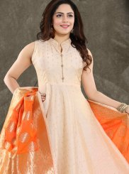 Peach Banglori Silk Fancy Readymade Suit