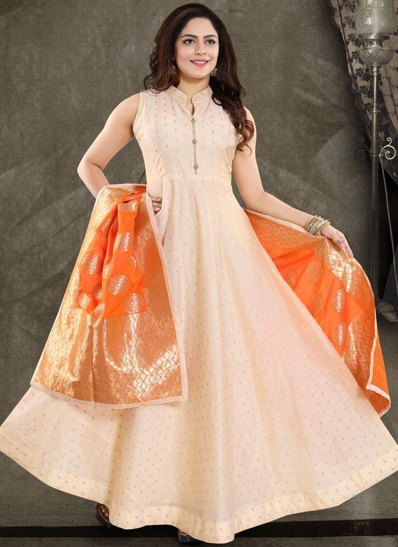 Peach Banglori Silk Fancy Readymade Suit