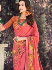Peach Casual Traditional Saree